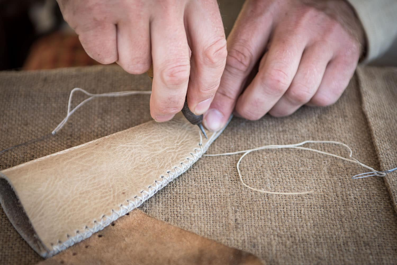 Detail Lederverarbeitung